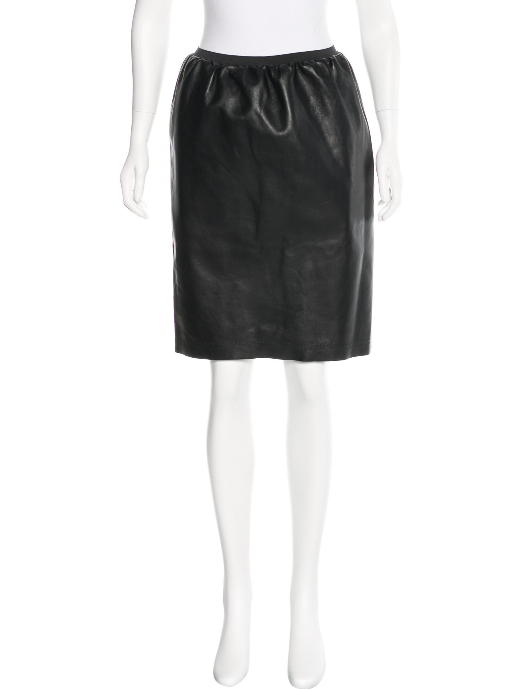 Lanvin Leather Knee-Length Skirt w/ Tags Low Shipping Sale Online Outlet Get Authentic Limit Discount tZPdvx