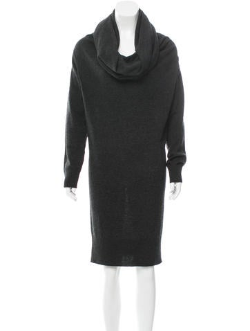 Lanvin Wool Turtleneck Dress None