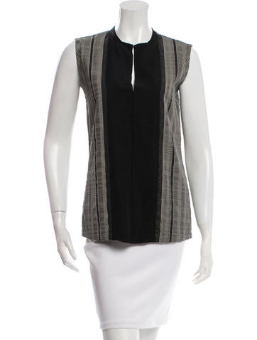 Lanvin Patterned Sleeveless Top None