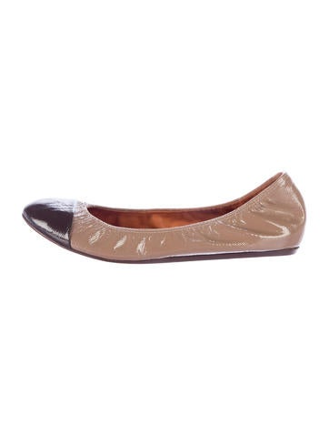 Lanvin Patent Leather Cap-Toe Flats