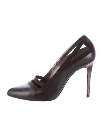 Lanvin Leather Pointed-Toe Pumps