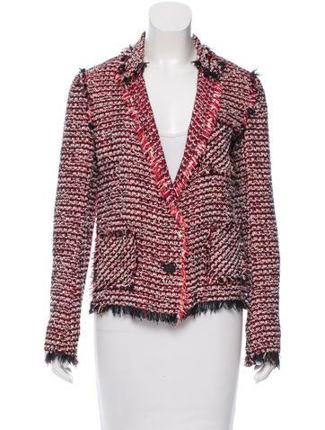 Lanvin Fringe-Trimmed Tweed Blazer