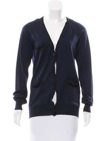Lanvin Wool V-Neck Cardigan None