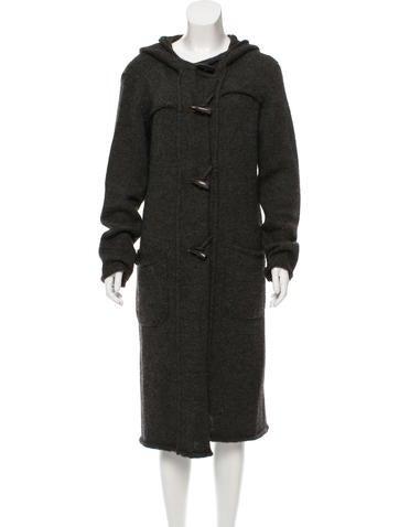 Lanvin Wool-Blend Hooded Cardigan None