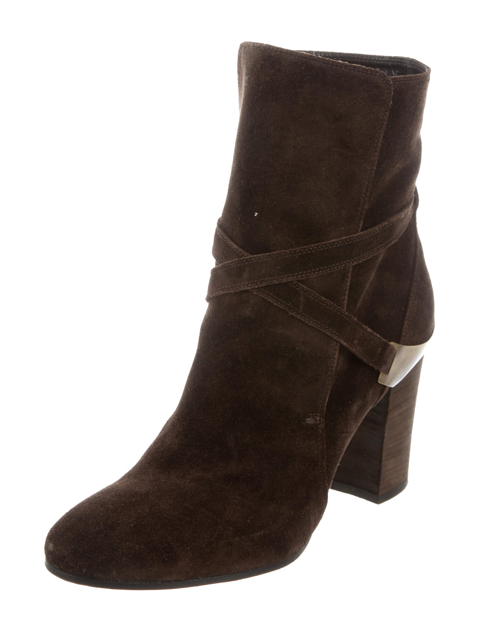 lanvin suede ankle boots shoes lan54067 the realreal