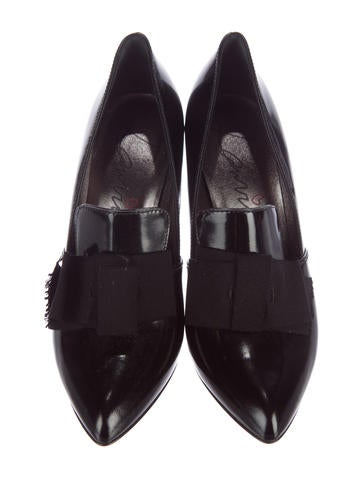 Patent Leather Loafer Pumps w/ Tags