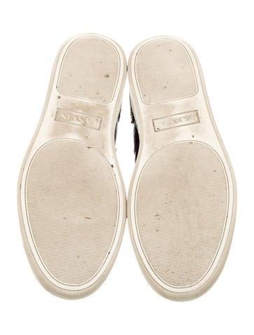 Metallic Cap-Toe Sneakers