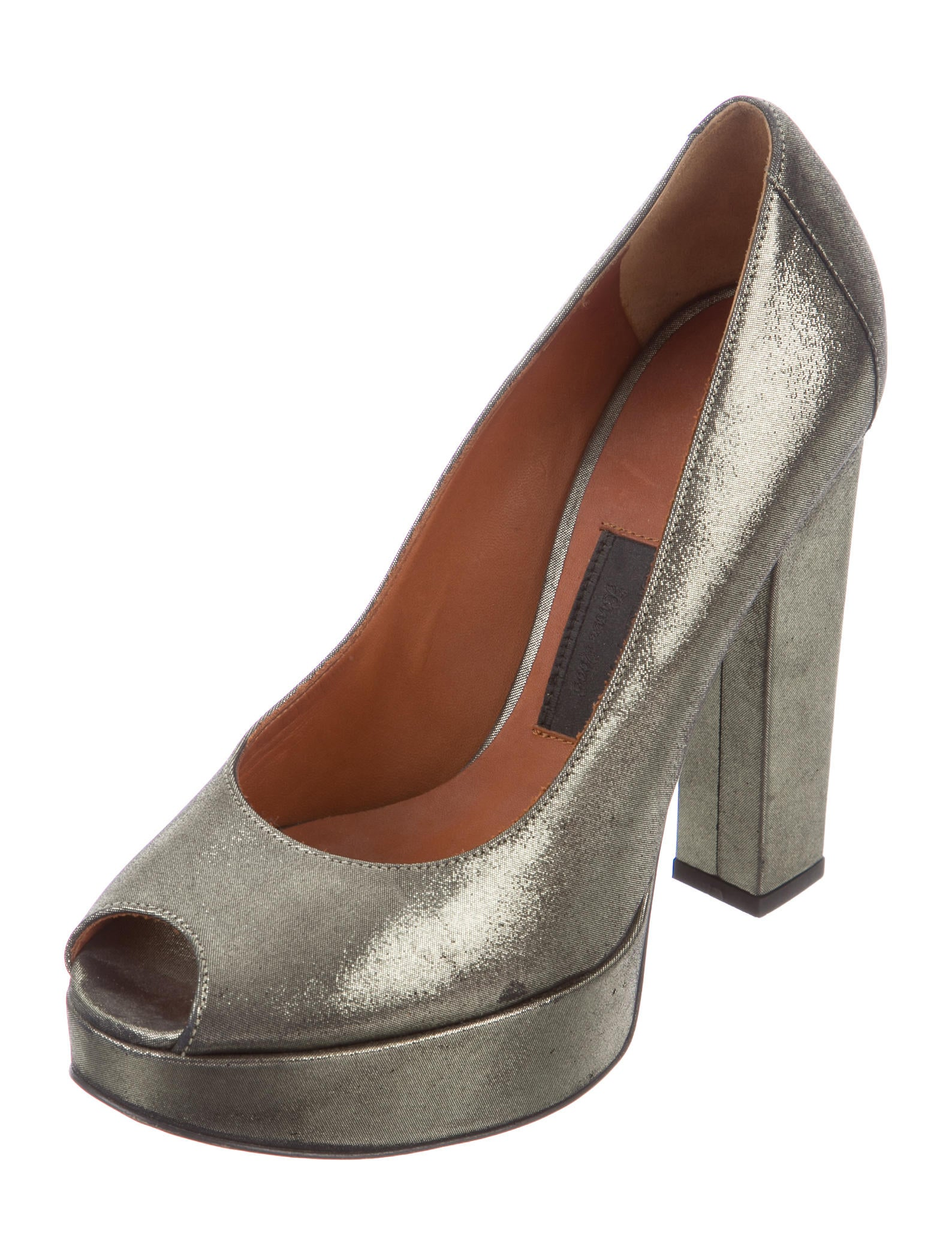 lanvin metallic platform pumps shoes lan54820 the