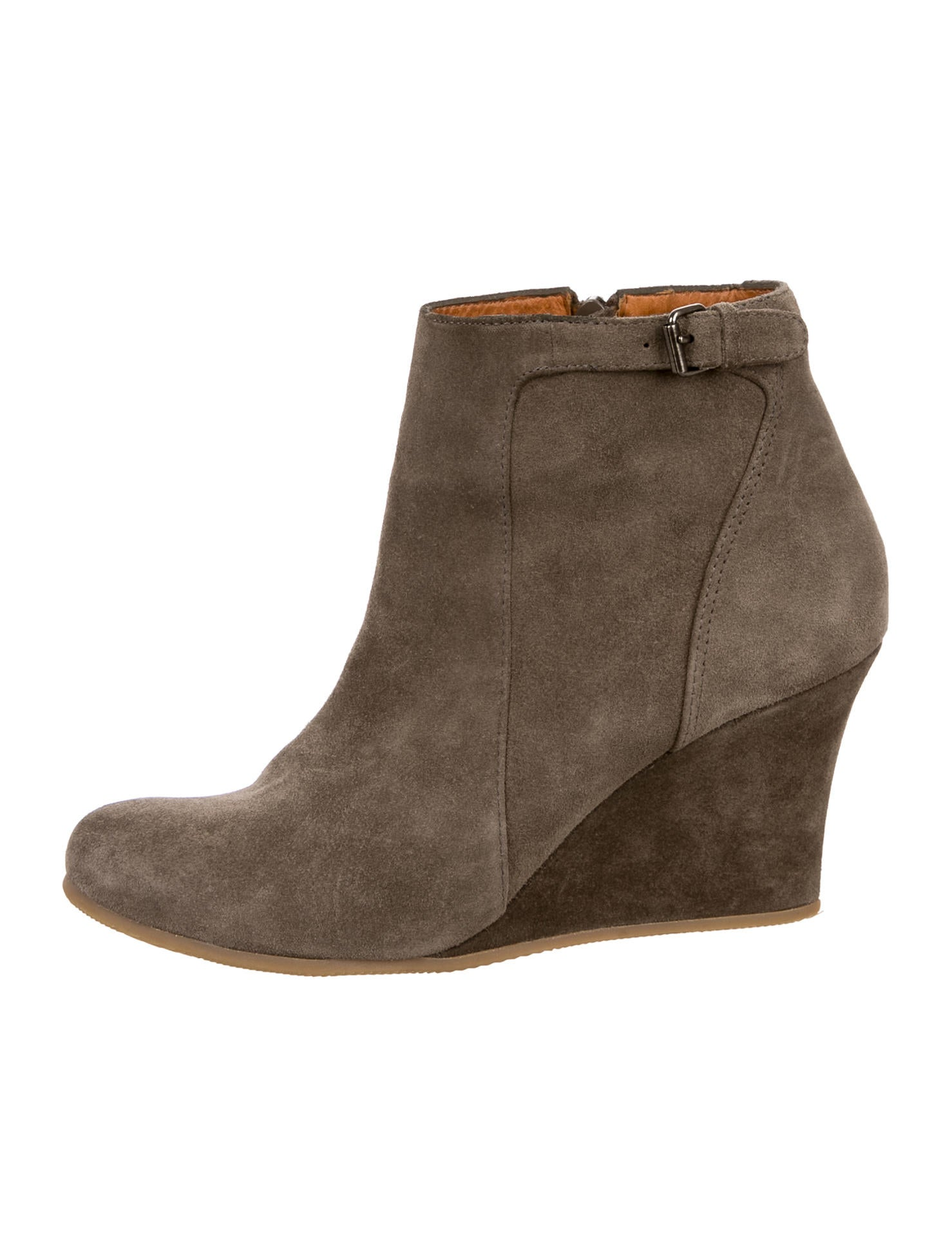 lanvin suede ankle boots shoes lan54900 the realreal