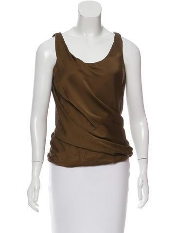 Lanvin Sleeveless Silk Top w/ Tags None