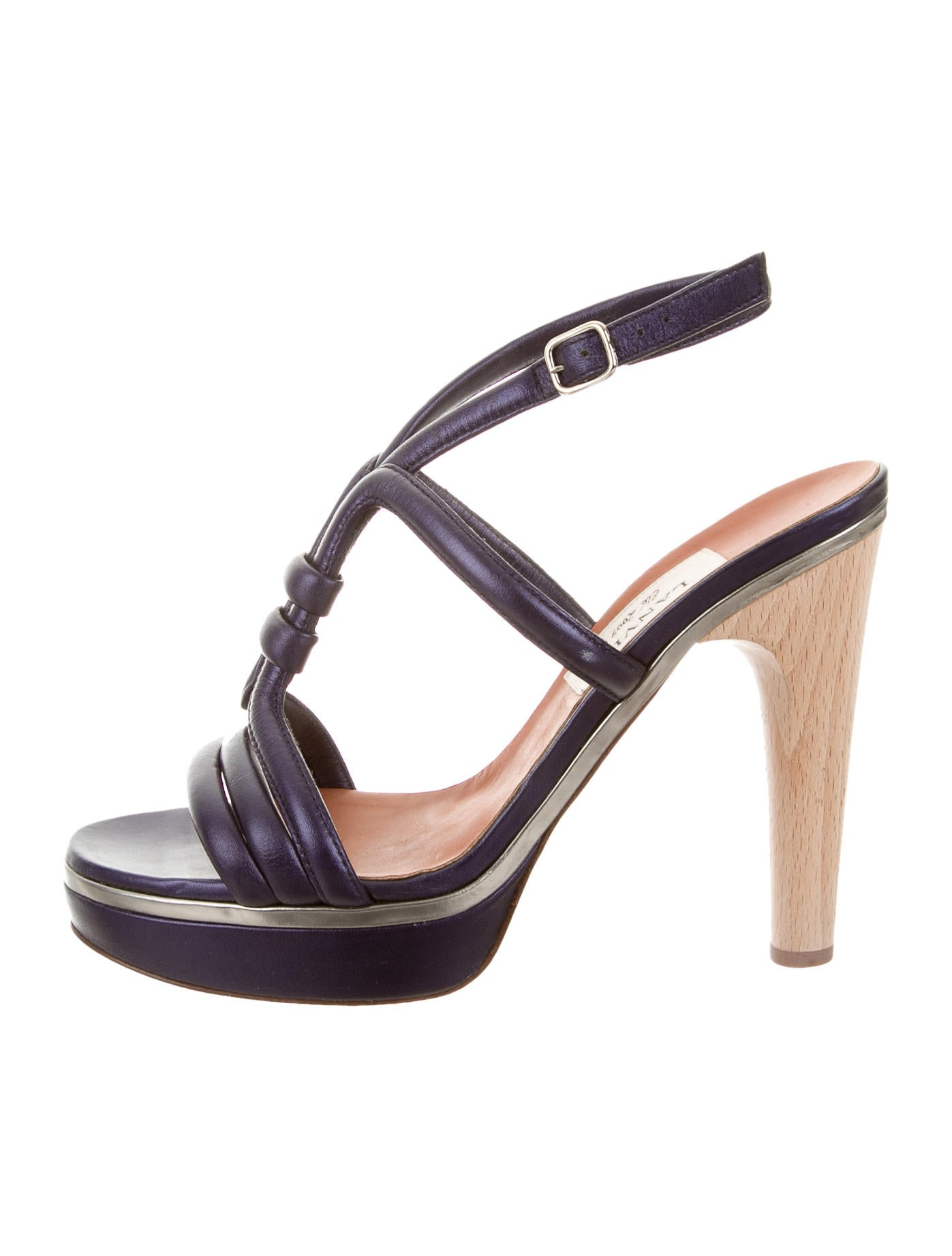 lanvin metallic platform sandals shoes lan54938 the