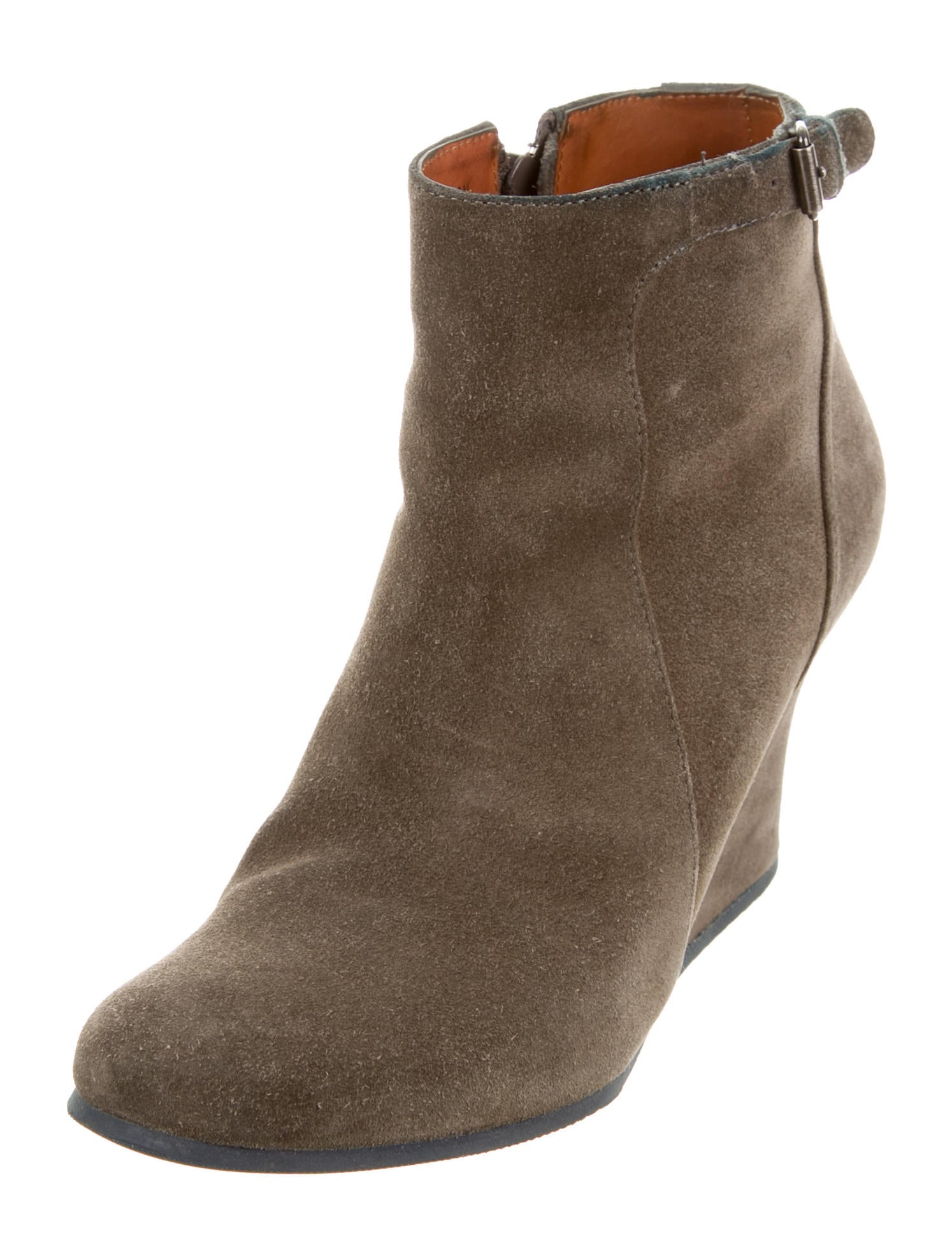 lanvin suede wedge ankle boots shoes lan54960 the