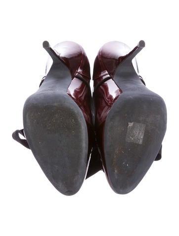 Patent Leather Platform Booties
