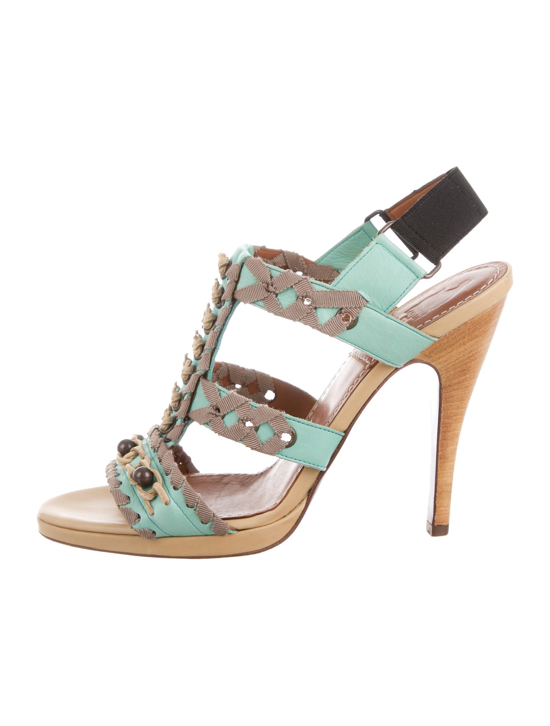 lanvin leather beaded sandals shoes lan55271 the