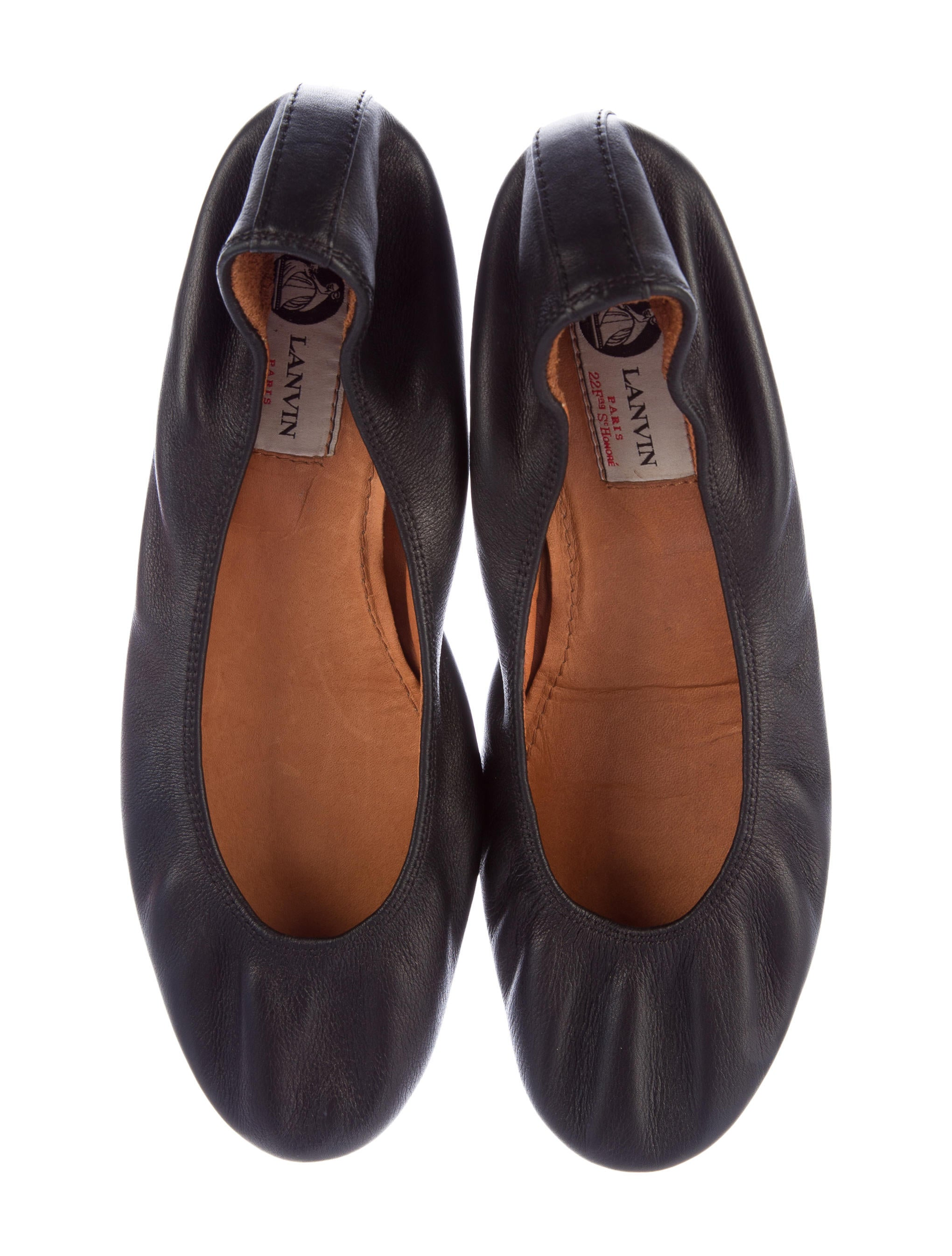 lanvin leather ballet flats shoes lan55406 the realreal