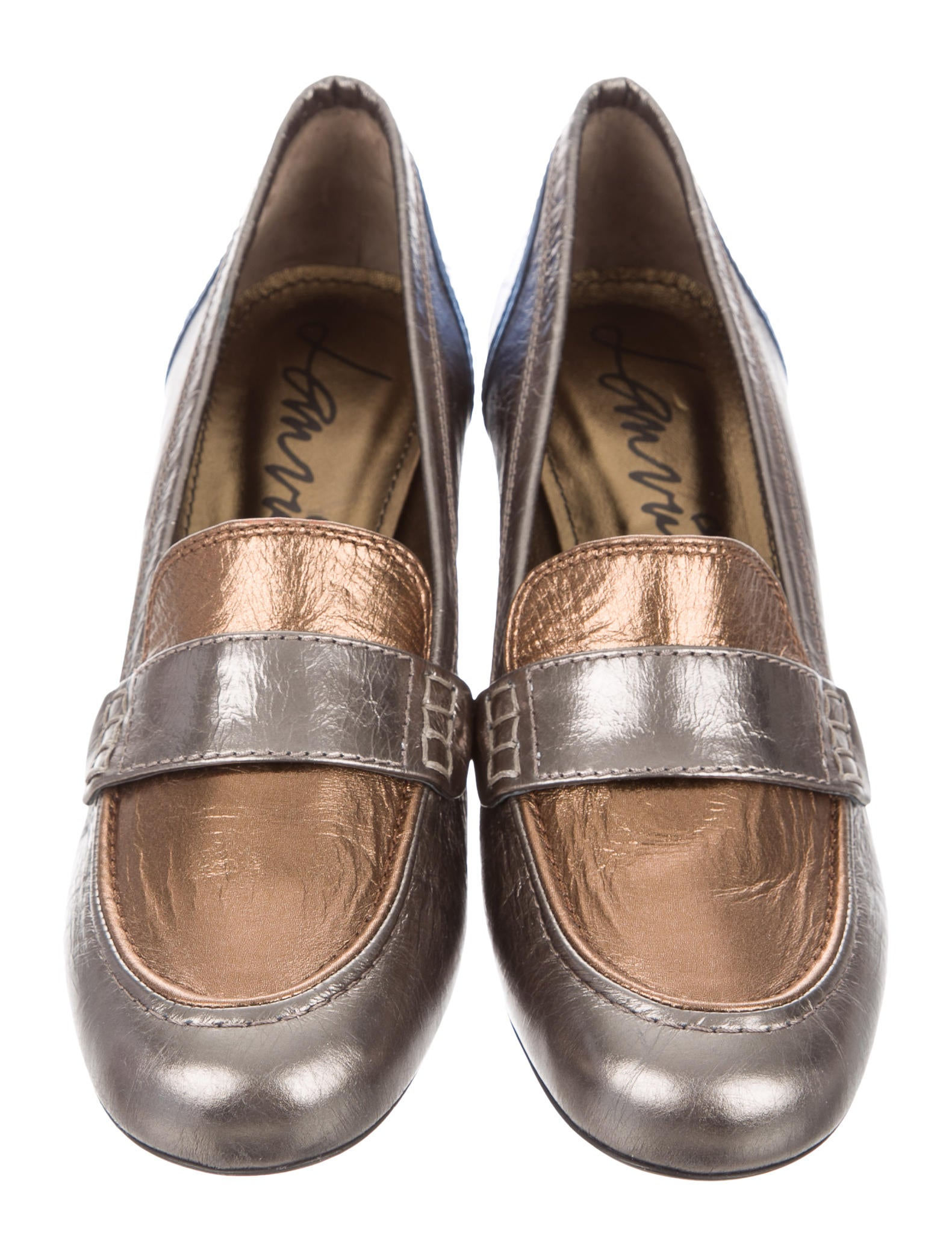 Metallic Leather Boots : Lanvin metallic leather pumps shoes lan the