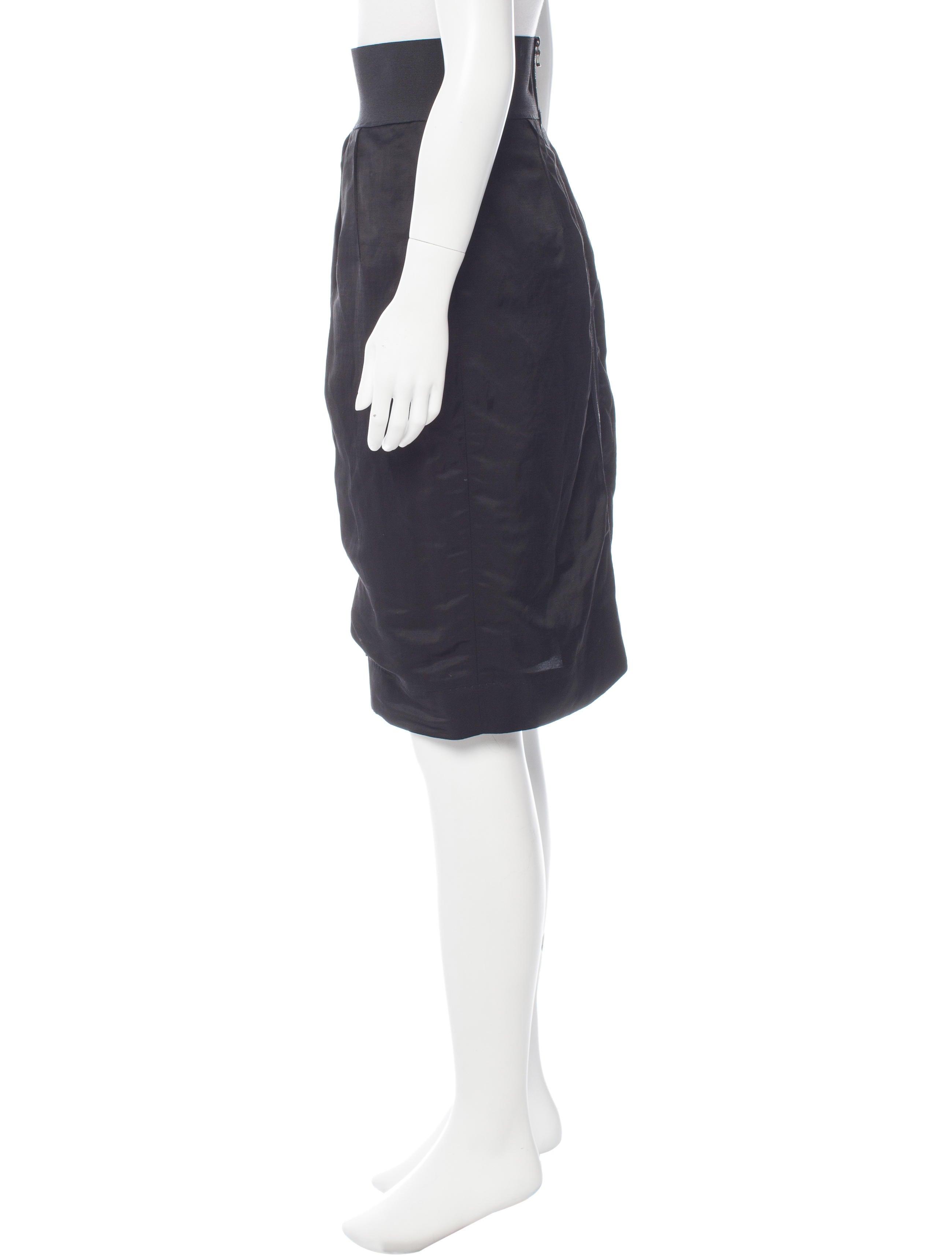 lanvin gathered pencil skirt clothing lan55973 the
