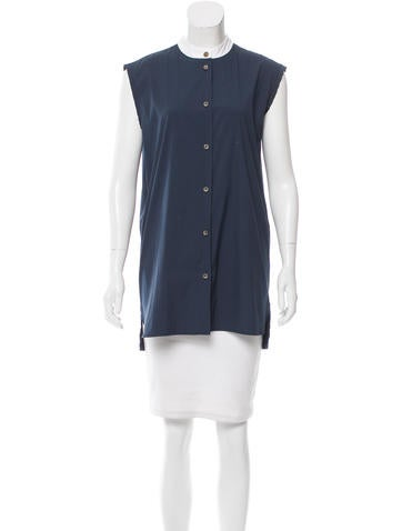 Lanvin Sleeveless Button-Up Top None