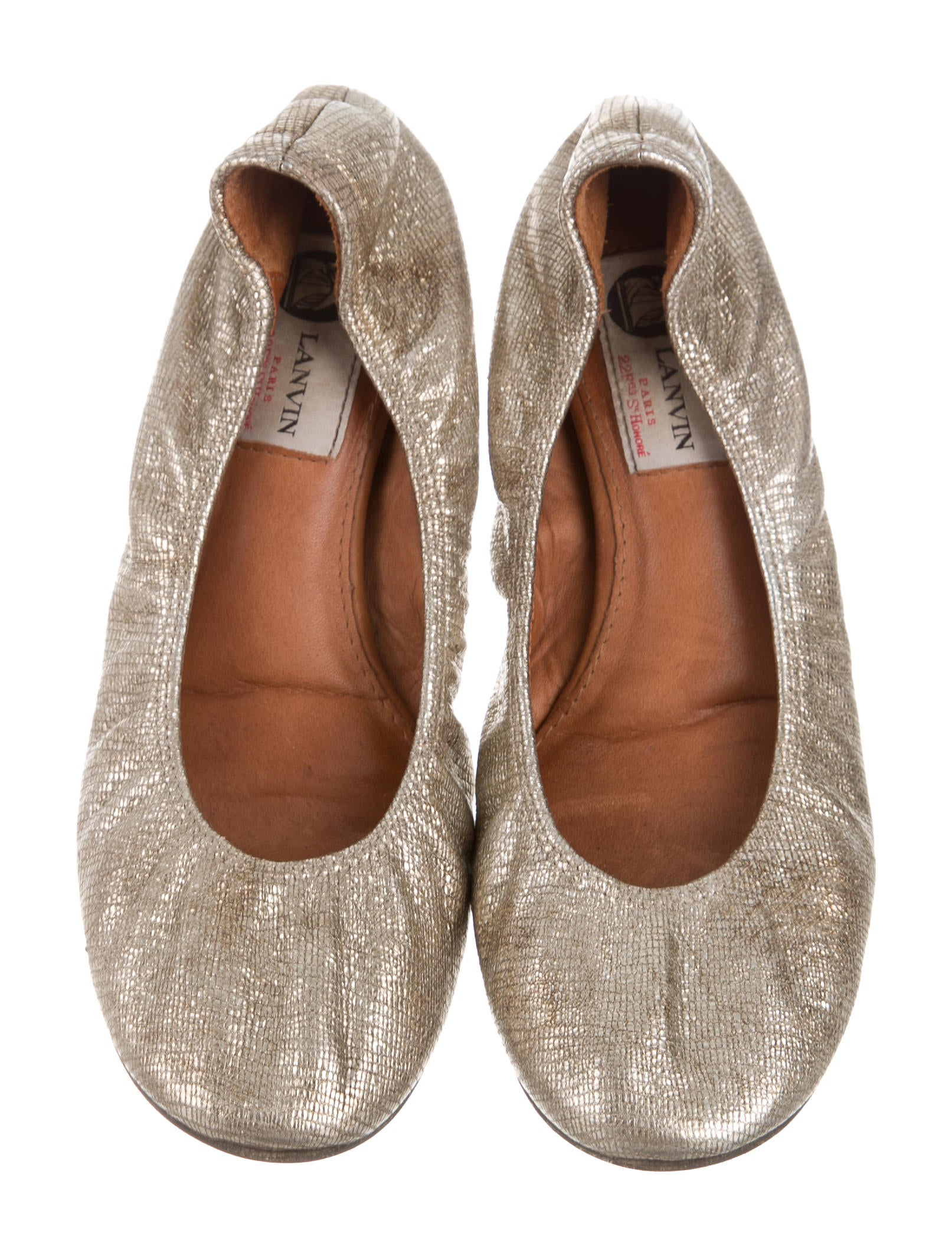 lanvin leather ballet flats shoes lan56183 the realreal