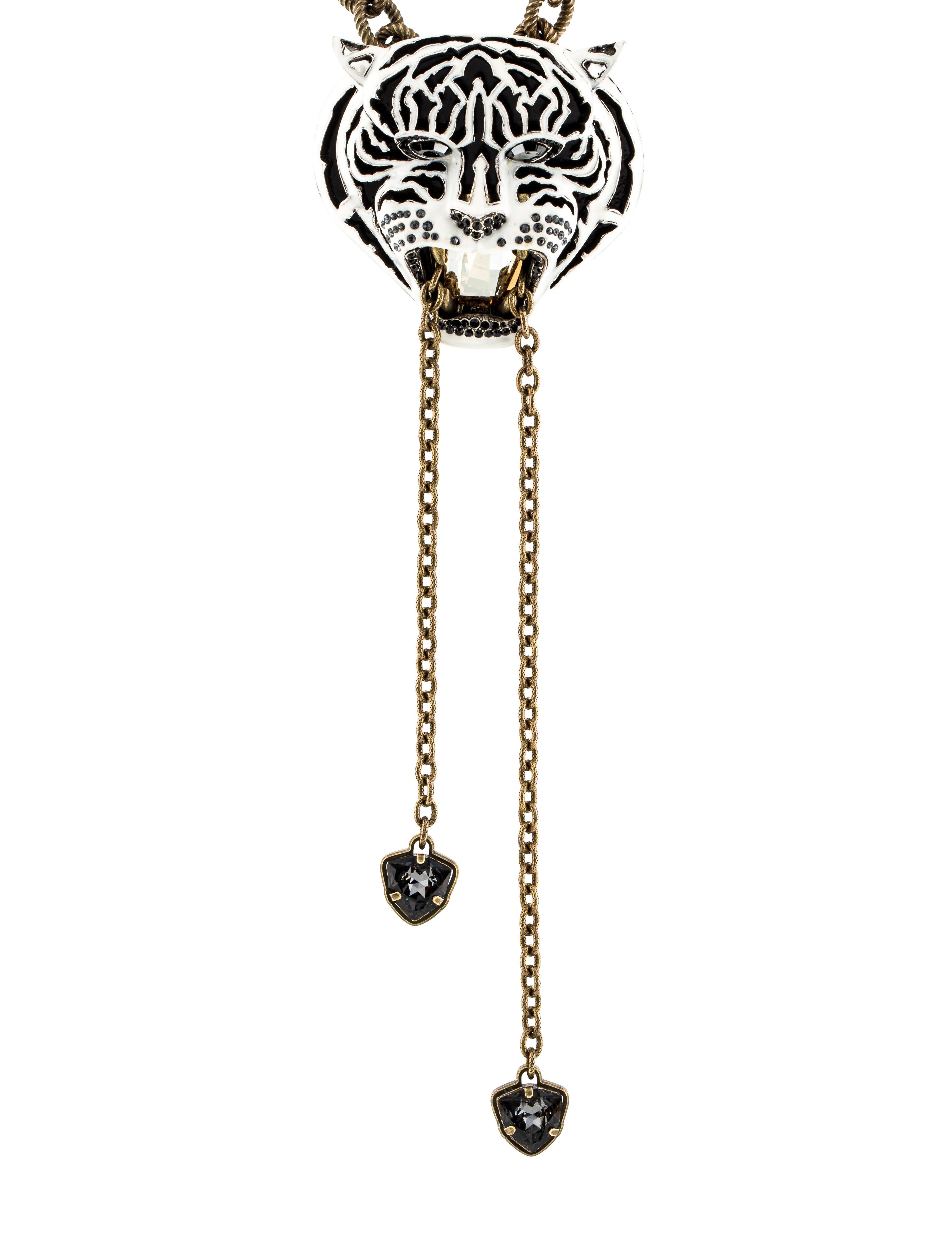 Lanvin Tiger Pendant Necklace Necklaces Lan56912 The