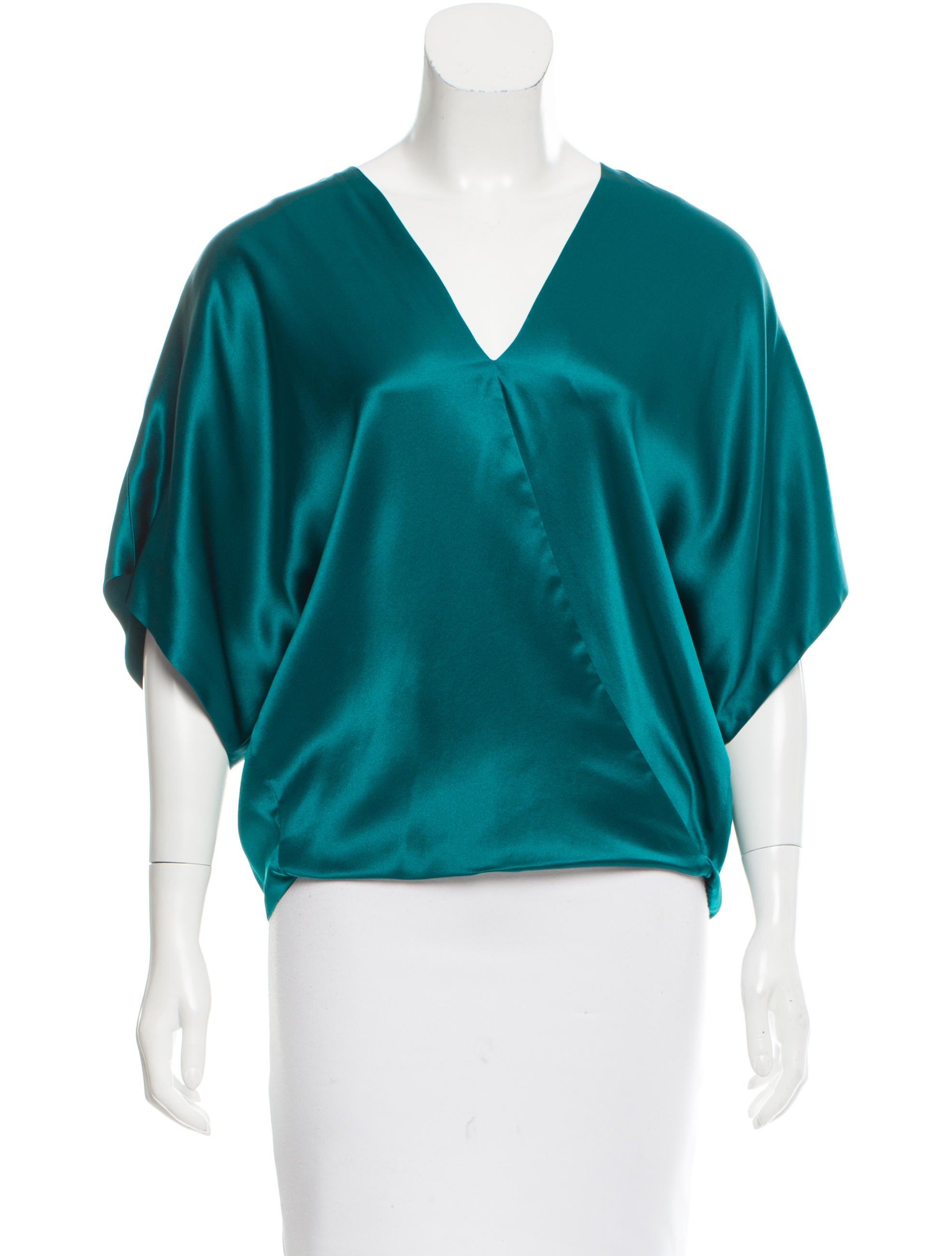 V Neck Silk Blouse 90