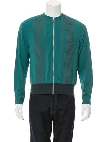 Lanvin Embroidered Zip-Front Jacket None