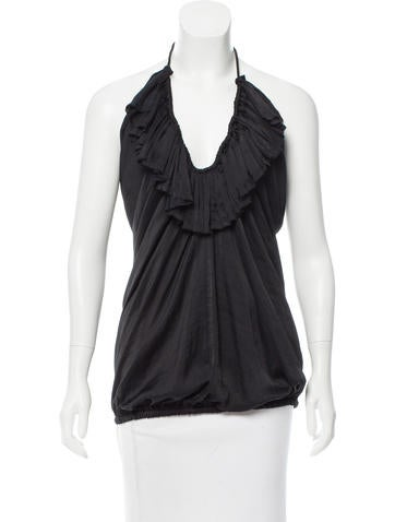 Lanvin Ruffle-Trimmed Sleeveless Top w/ Tags None