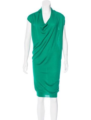 Lanvin Wool Draped Dress None
