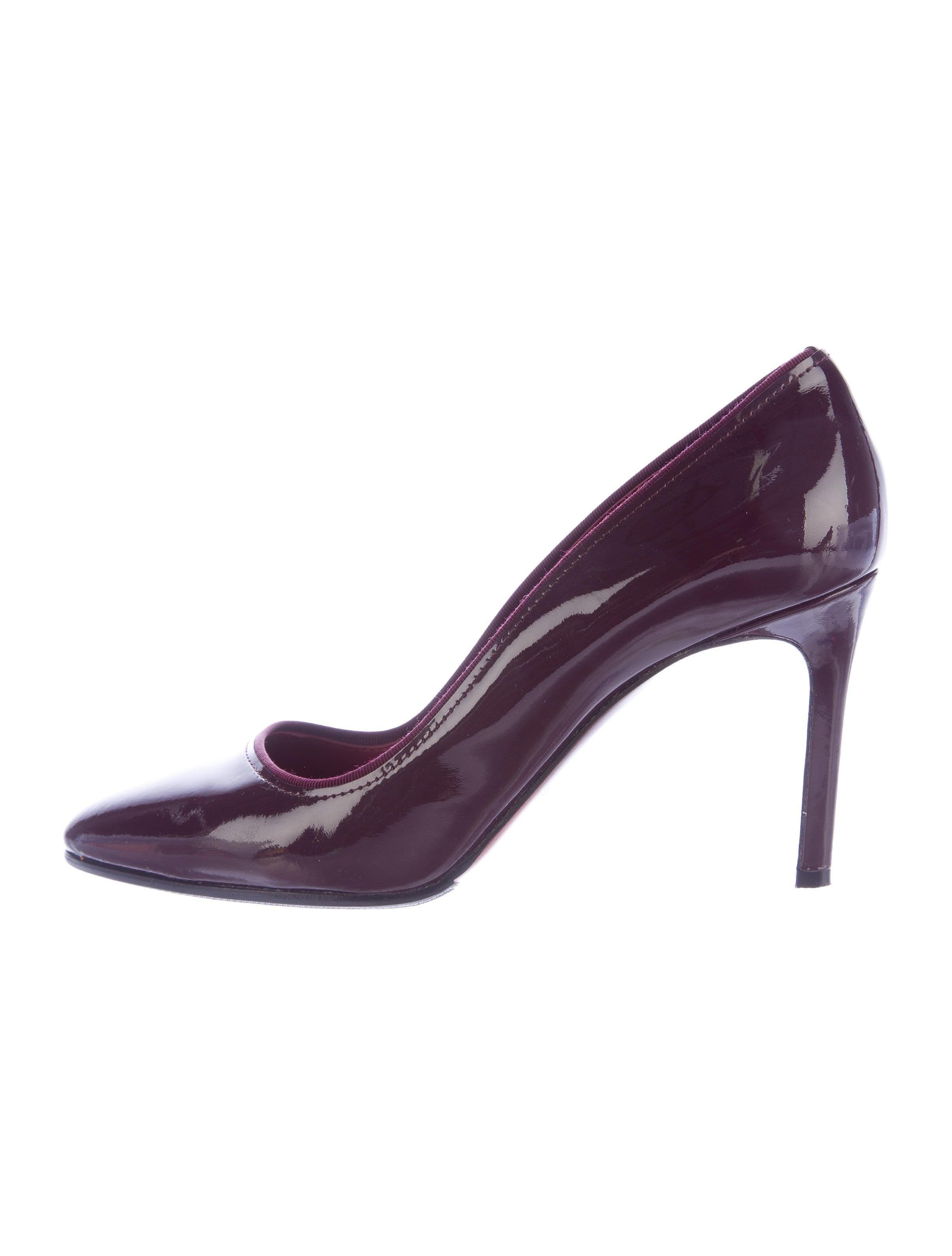 Lanvin Patent Leather Peep-Toe Pumps official d9KUUS