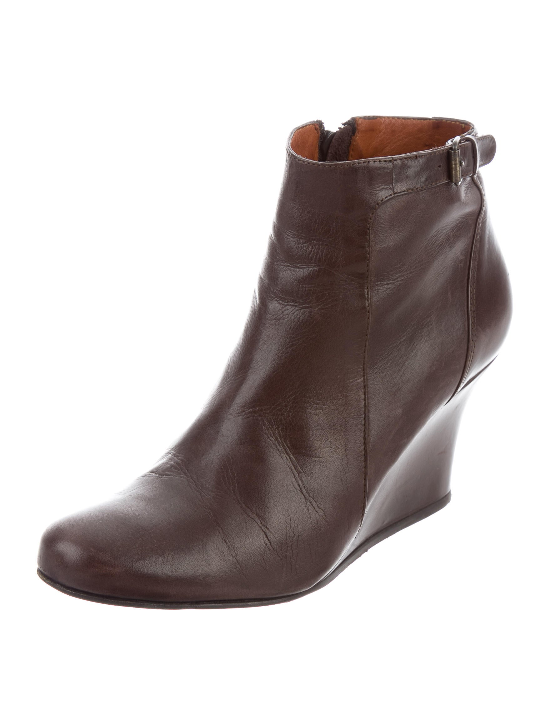 lanvin leather wedge ankle boots shoes lan59435 the