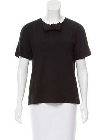 Lanvin Bow-Accented Wool Top None
