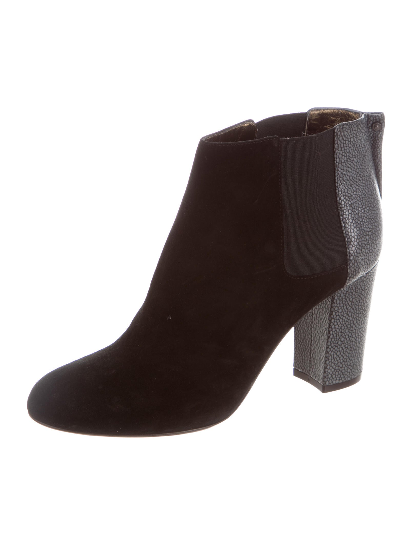 lanvin suede ankle boots shoes lan59869 the realreal