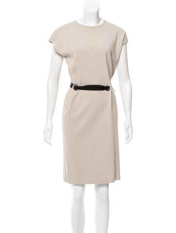 Lanvin Belted Rib Knit Dress None