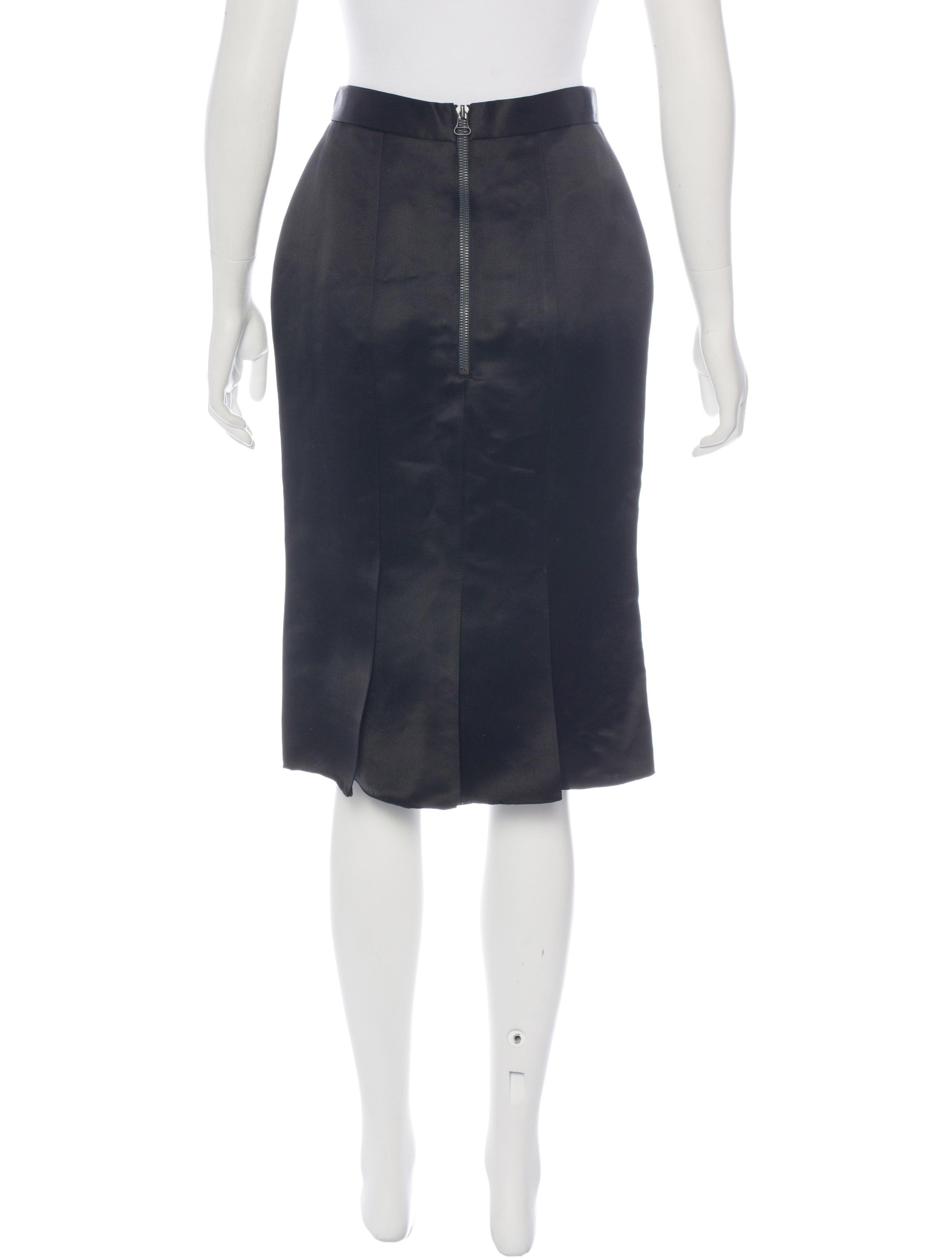 Lanvin Silk Knee Length Skirt W Tags Clothing