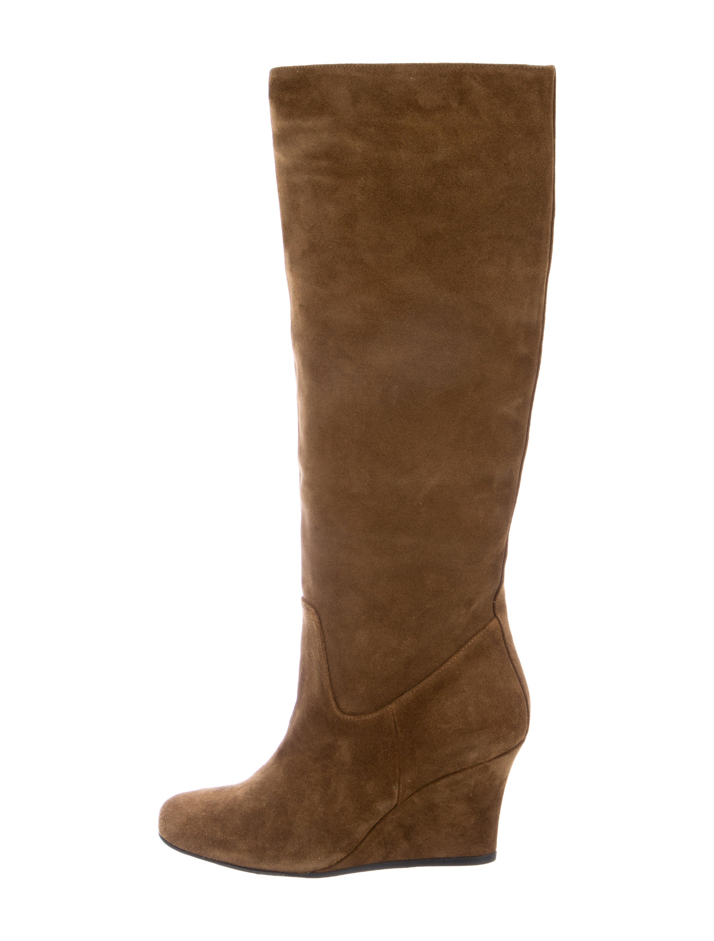 lanvin knee high wedge boots shoes lan60049 the realreal