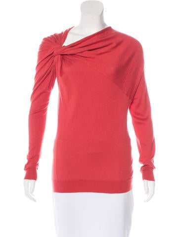 Lanvin Asymmetrical Knit Sweater None