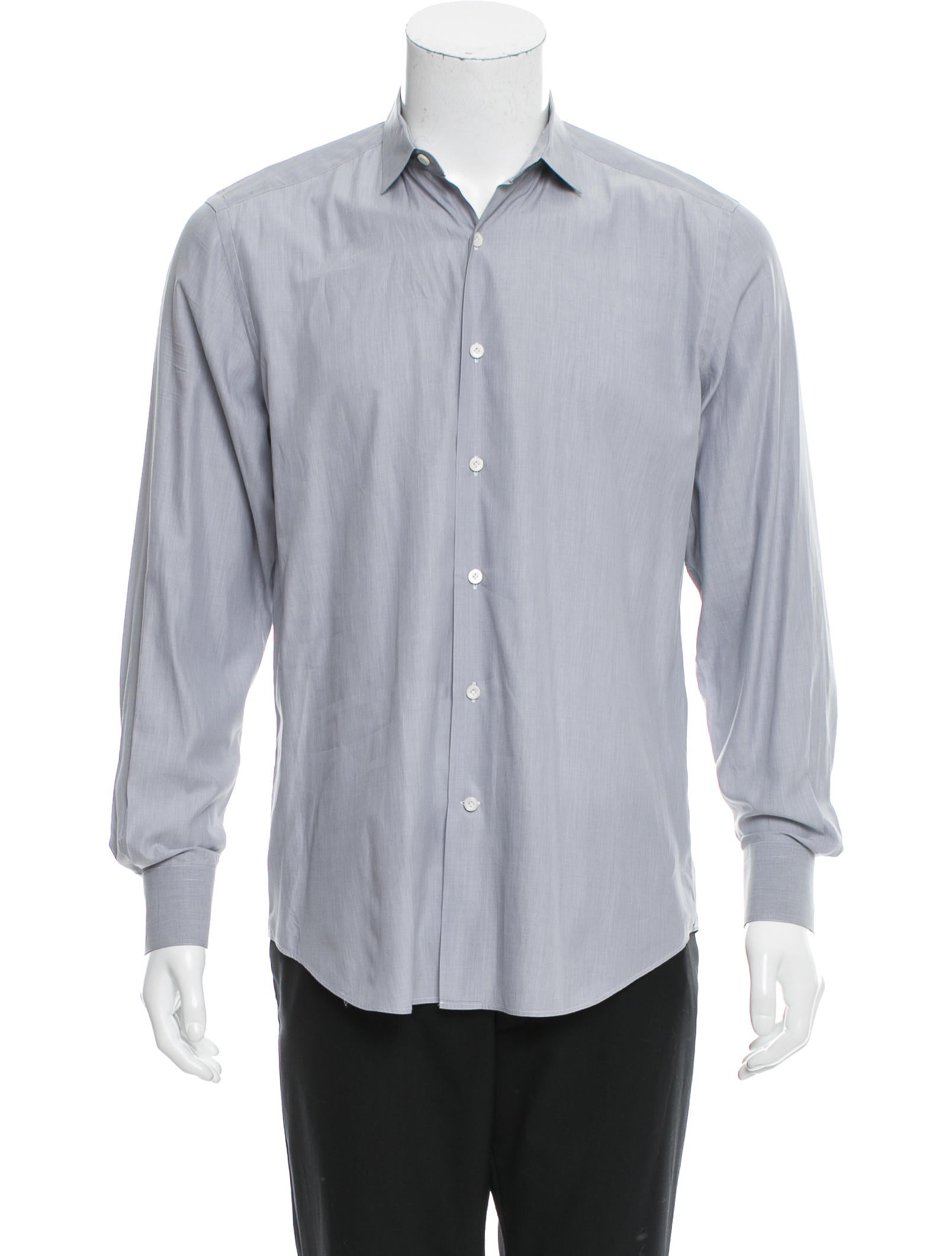 Lanvin spread collar button up shirt clothing lan60395 for What is a spread collar shirt
