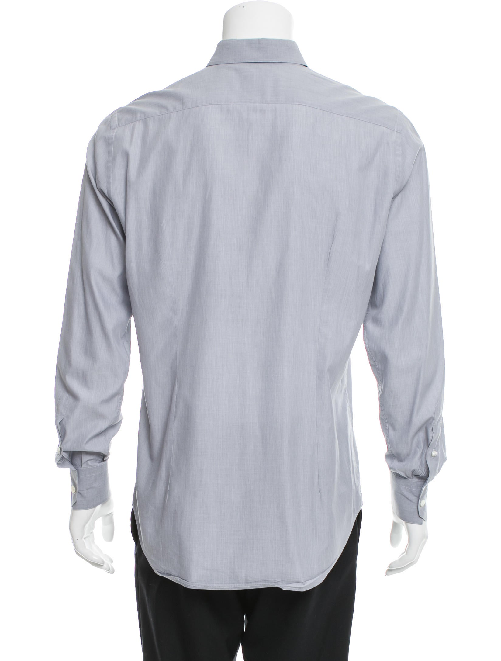 Lanvin spread collar button up shirt clothing lan60395 for Mens wide collar dress shirts