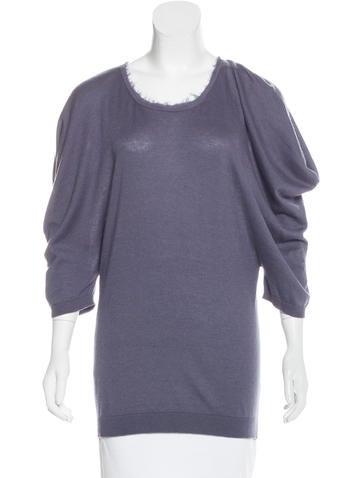 Lanvin Knit Asymmetrical Top None