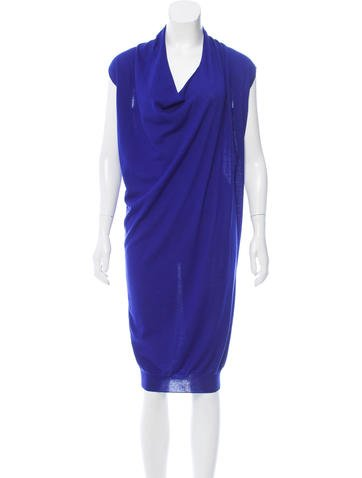 Lanvin Wool Midi Dress w/ Tags None