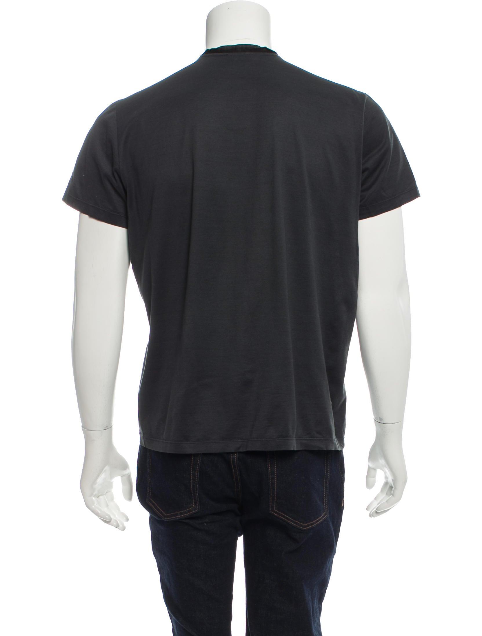 lanvin short sleeve henley t shirt clothing lan61236