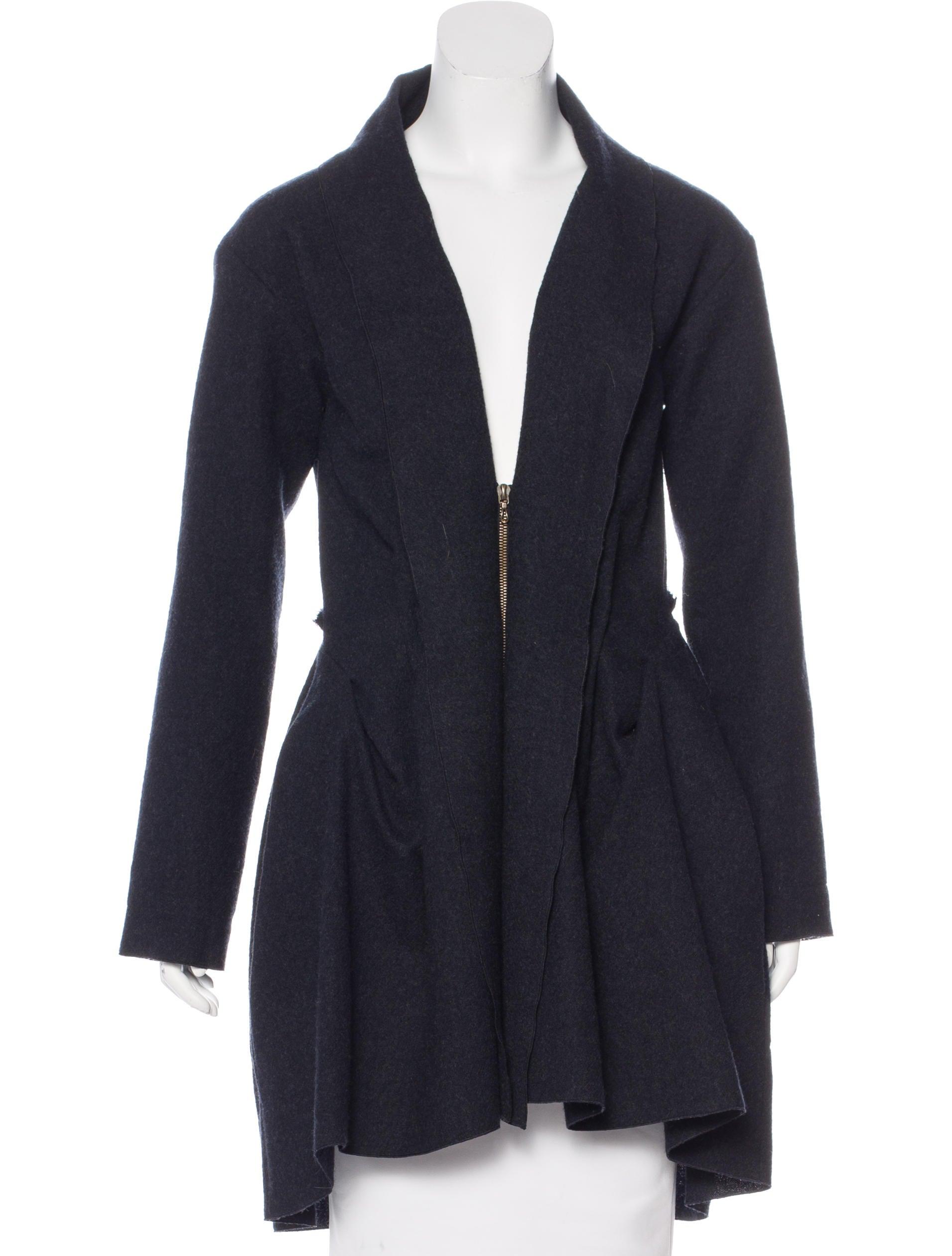 Lanvin Wool Pleated Jacket - Clothing