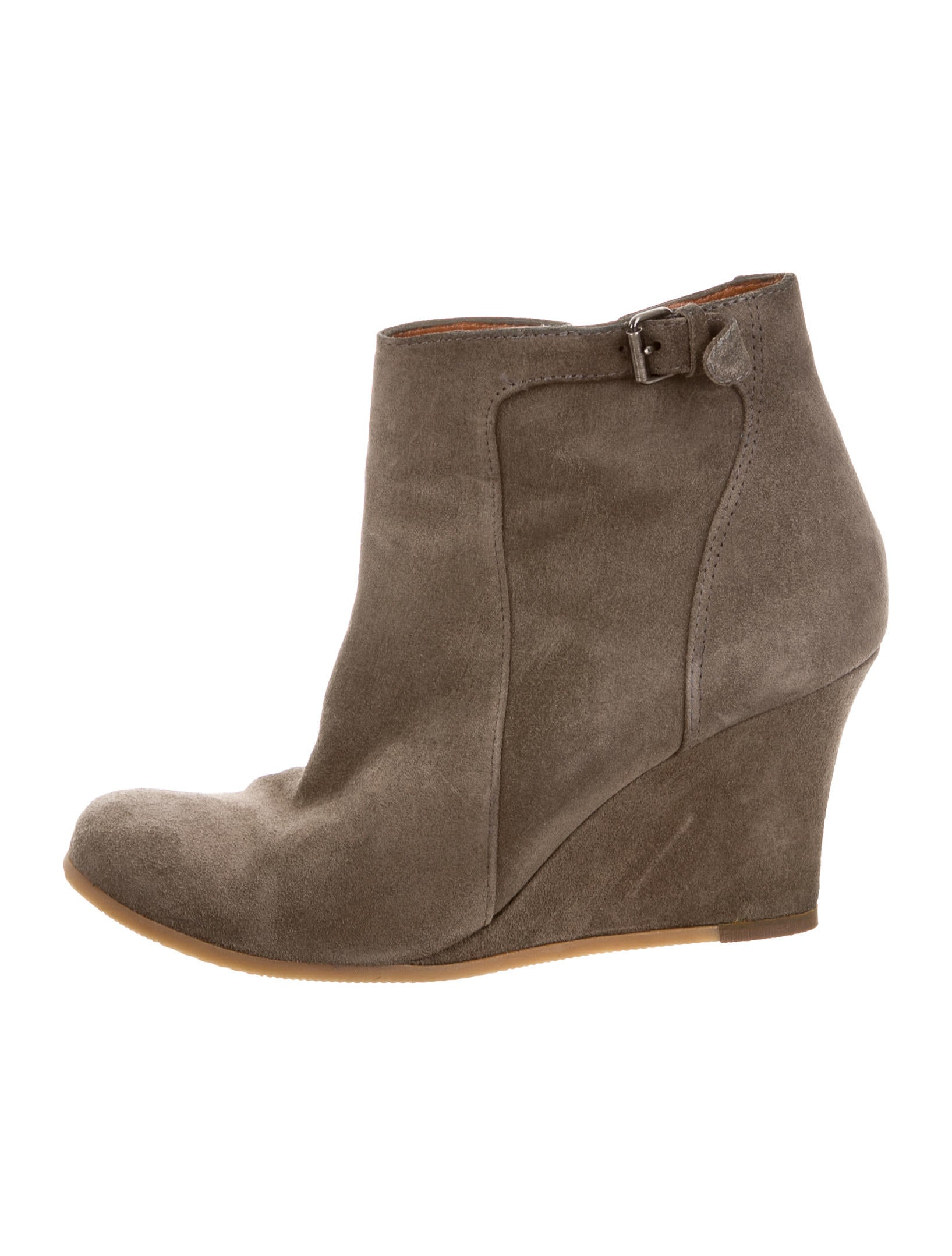 lanvin suede wedge boots shoes lan61651 the realreal