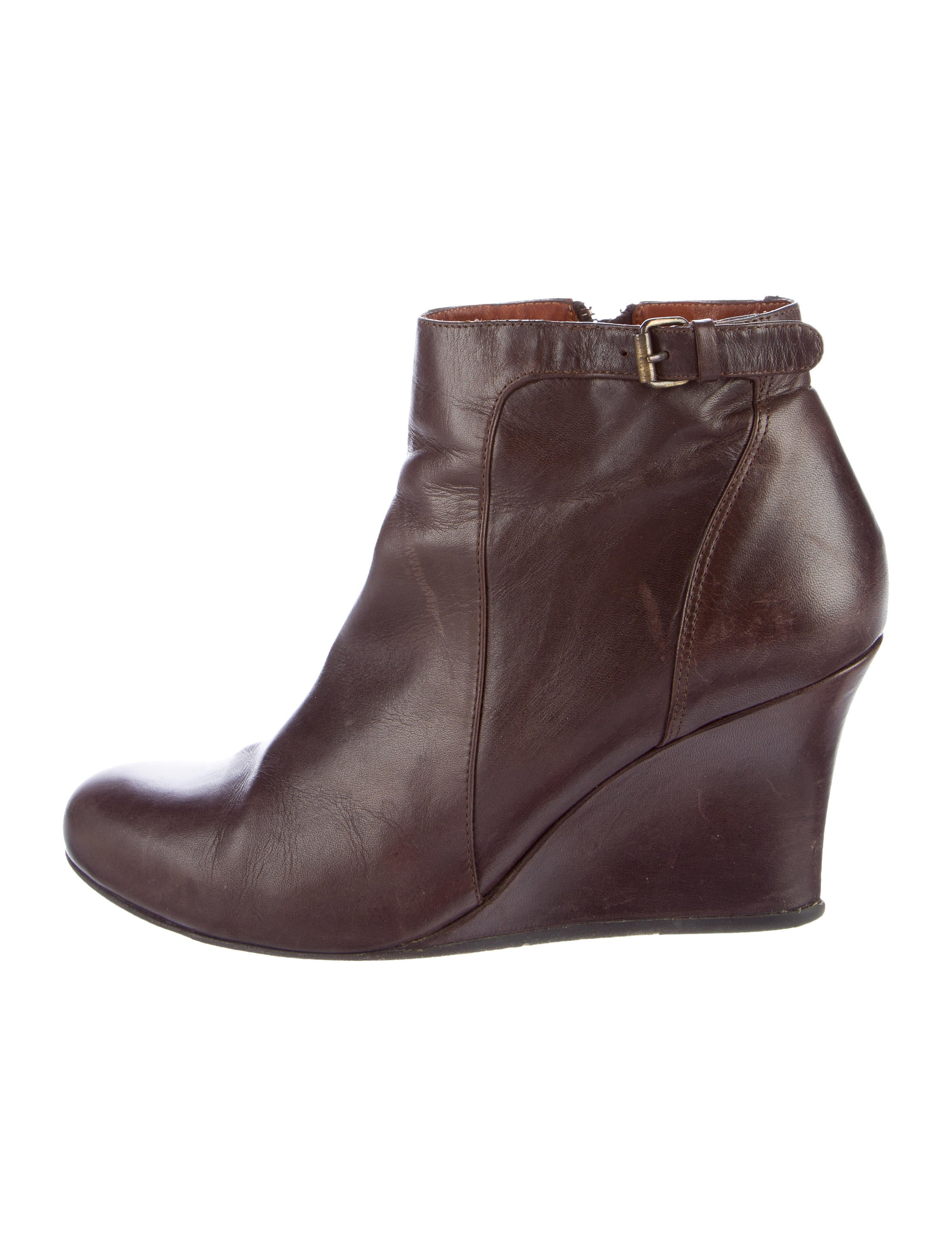 lanvin leather wedge ankle boots shoes lan61887 the