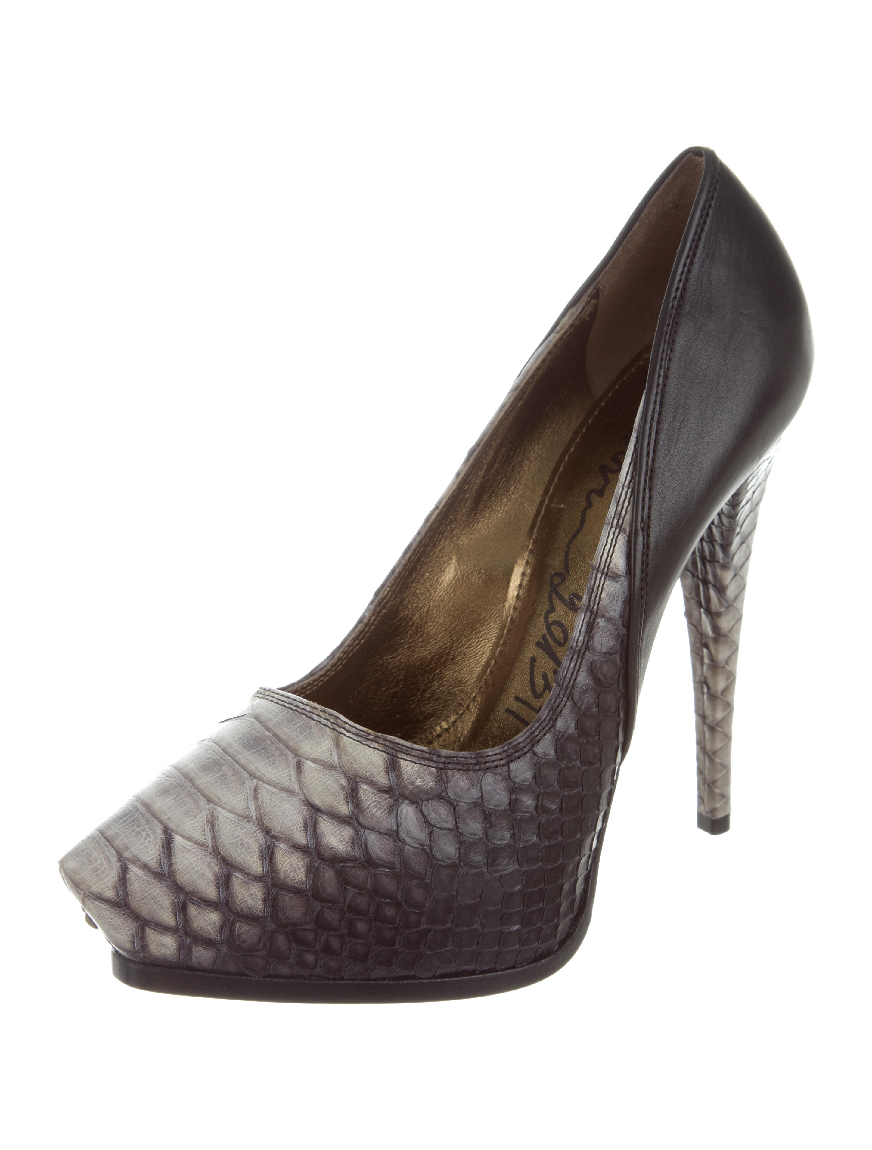 Lanvin Python Pointed-Toe Pumps - Shoes - LAN61908 | The RealReal