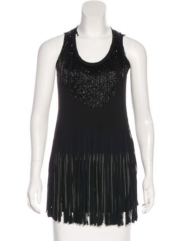 Lanvin Embellished Sleeveless Top None