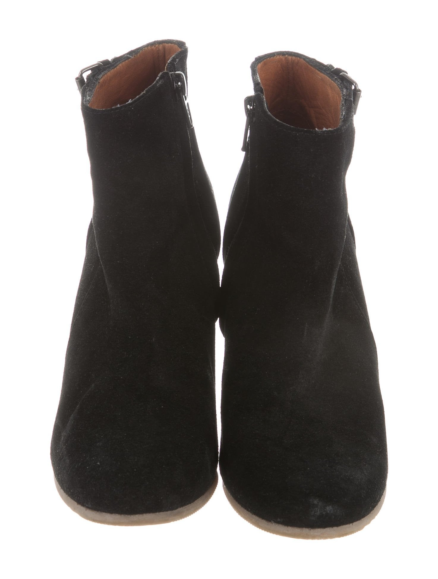 lanvin suede wedge ankle boots shoes lan62252 the