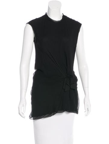 Lanvin Gathered Silk Top None