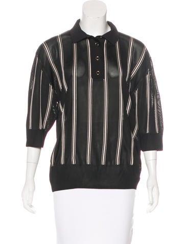 Lanvin Striped Knit Polo None