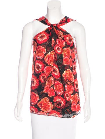 Lanvin Silk Printed Top None